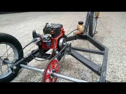 Chainsaw three-wheeler. Engine Go-kart