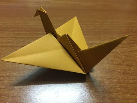 How to make Origami Flapping Bird - Origami Tutorial Video