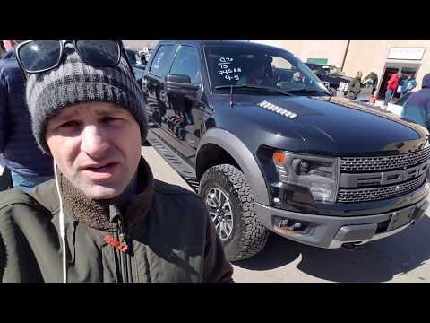 HOW MUCH!!?? Black Ford Raptor SVT at Dealer Auction   -- Flying Wheels --