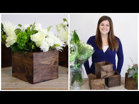 DIY Wood Cube Planter