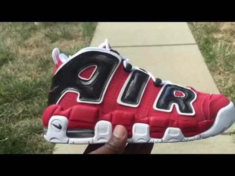 0ab55b0713ad Nike Air More UpTempo White Gym Red - Review + On Foot. - White ...