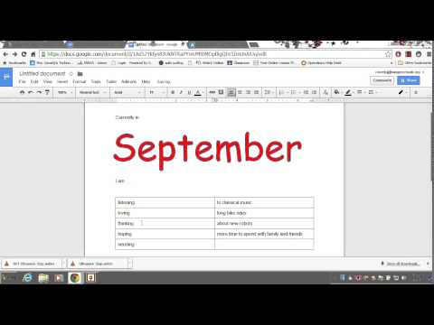 Insert tables Word Art font changes and pictures in Google Docs