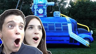 SURPRISED THEM WITH BATTLE BUS IN REAL LIFE!!