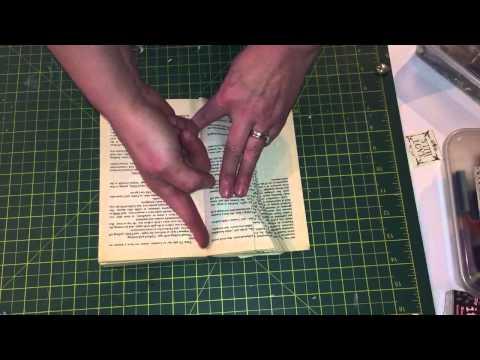 Book folding tutorial sewing spool shape pattern