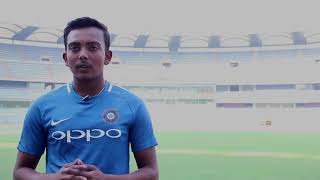 ICC Under 19 Cricket World Cup: Prithvi Shaw talks about his idol