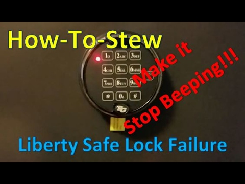 Liberty Safe Electronic Lock Failure (Continuous Beeping)