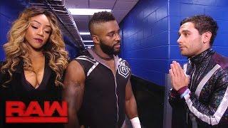 Noam Dar apologizes to Cedric Alexander and Alicia Fox: Raw, Jan. 2, 2017