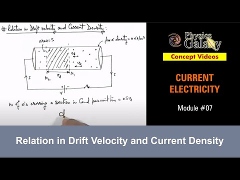 7. Class 12 Physics | Current Electricity | Relation in Drift Velocity and Current Density