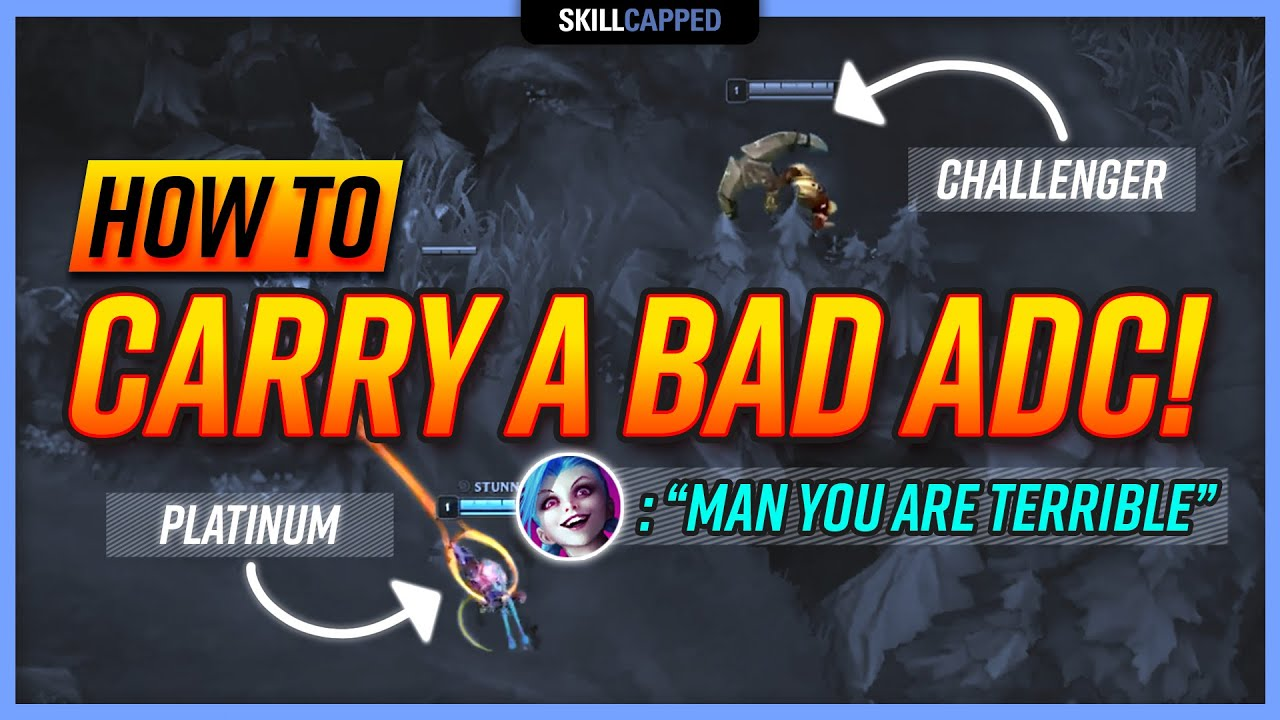 How to Carry BAD LOW ELO ADC Players as SUPPORT! - Support Guide