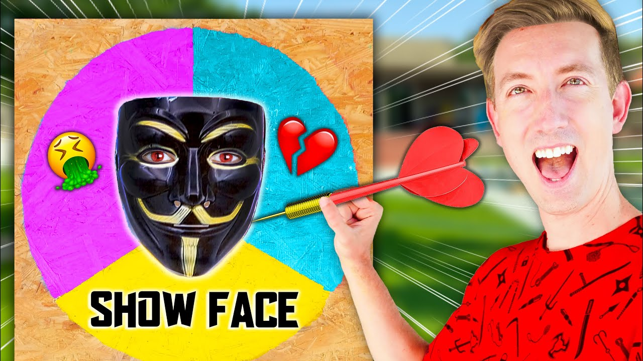 Throwing a DART at a MAP & CLOAKER Unmasking Whatever It Lands On - Spy Ninja Challenge
