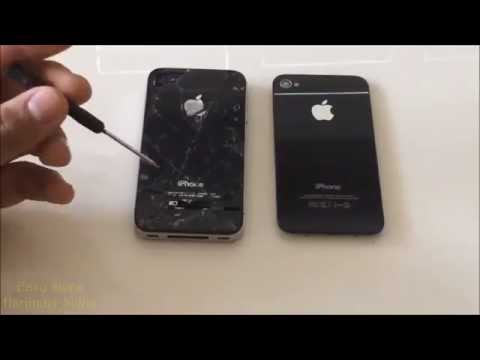 How to replace iPhone 4S Cracked Back Glass | iPhone 4 Broken Screen
