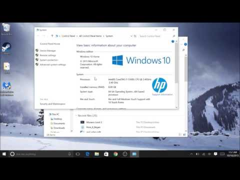 Windows 10 How to find computer specs