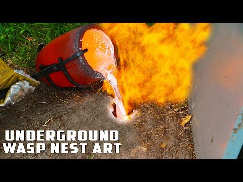 Xxx Mp4 Casting GIANT Underground Wasp Nest With Molten Aluminum 3gp Sex