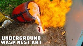 Download Casting GIANT Underground Wasp Nest with Molten Aluminum Video