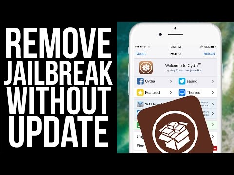 How To Remove Jailbreak Without Updating iOS & Computer