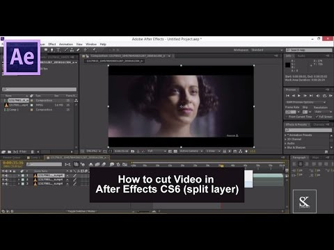 How to cut Video in After Effects CS6 split layer