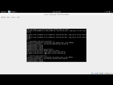 How to connect CentOS virtual machine to the internet