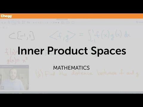 Inner Product Spaces | Math | Chegg Tutors
