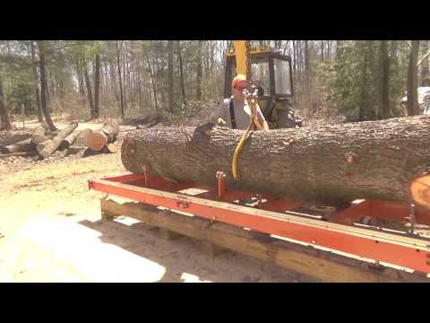 How many 2x6 does a man need? Big WP Log  Woodmizer LT15 Part 1