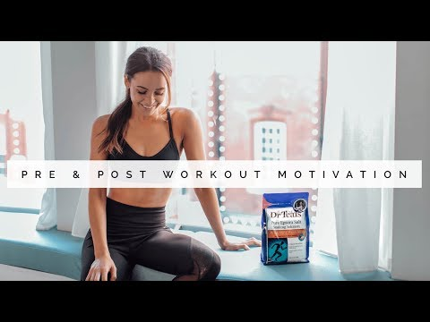 STAYING MOTIVATED IN 2018 | PRE & POST WORKOUT | Danielle Peazer | ad