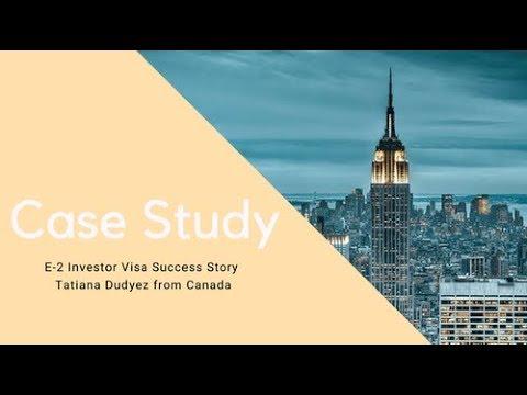 E-2 Investor Visa Success Story with Tatiana Dudyez