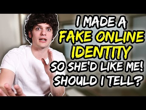 I made a FAKE ONLINE IDENTITY so she'd like me… should I tell? | Jordan's Messyges