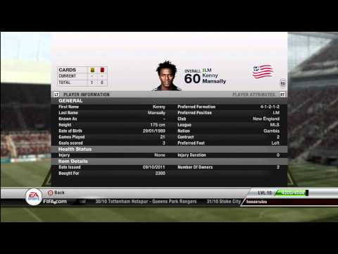Fifa 12 best bronze squad! (HD)