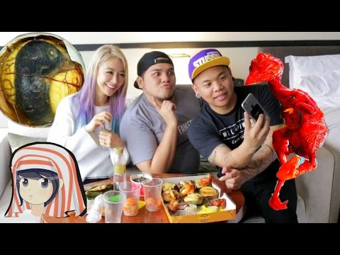 Wengie & AJ Rafael eats Filipino Food