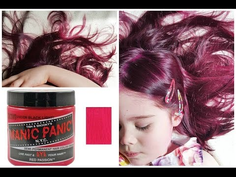 EPIC Mom Dying Her Kid's Hair & Dreads Red (Manic Panic)