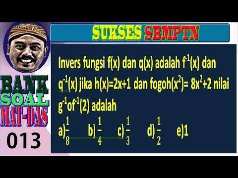 komposisi fungsi , matematika dasar , smbptn, bank soal no 013