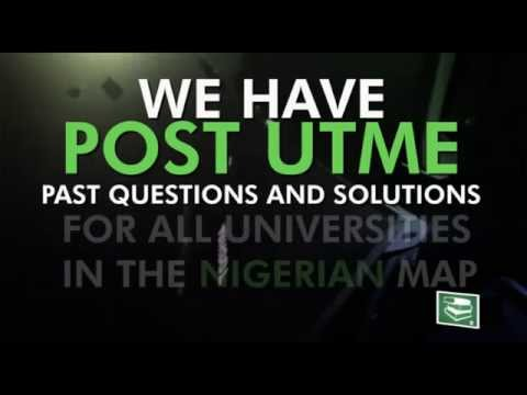 Get it Now ! Post UTME Past Questions and Answers