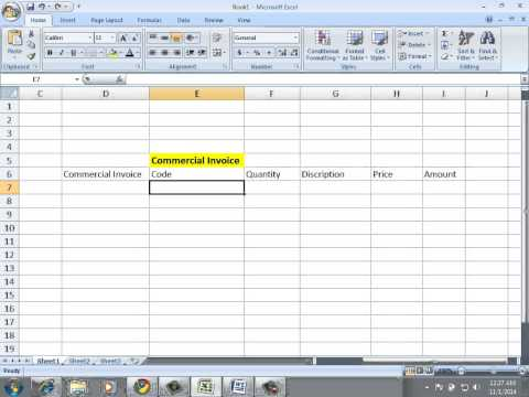 Learn excel in urdu language commercial invoice by sir waseem abbas golo