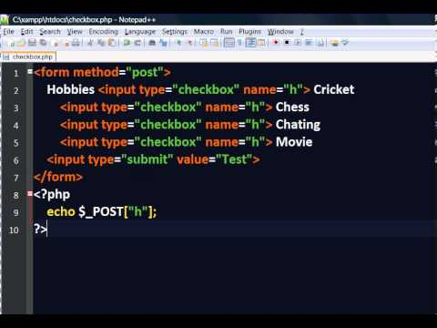 06 - HTML Form Handling - Check box Array use with PHP - Part 2