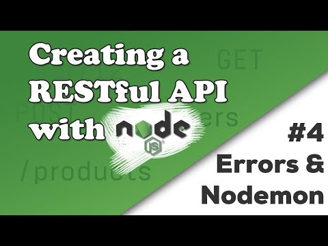 Handling Errors & Improving the Project Setup | Creating a REST API with Node.js