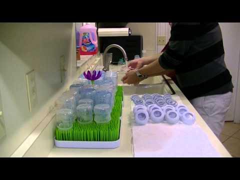 Washing TRIPLETS baby bottles Timelapse