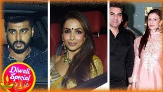 Malaika with Arjun And Arbaaz Khan With Giorgia Celebrate Diwali - Diwali 2018