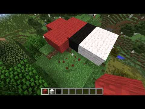how to build a pokeball in minecraft