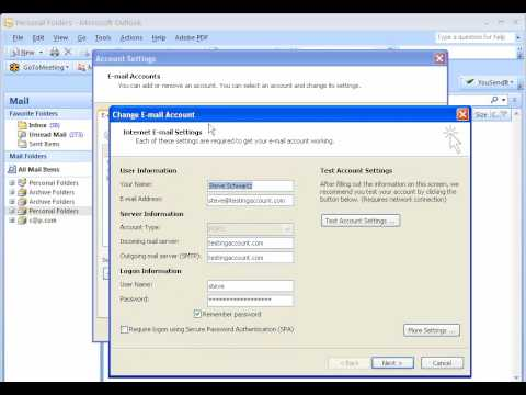 Microsoft Outlook 2007 - Changing short email username to long username - PD-go! Web Solutions
