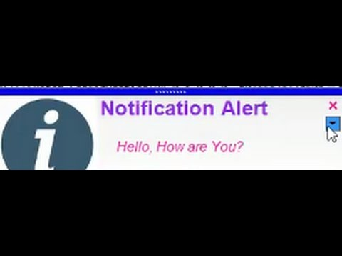 How to Create a Notification Popup Message through VB  .Net?