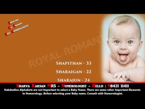 BOY BABY NAME STARTING WITH SHA 8 - BEST BABY NAME, BUSINESS NAME NUMEROLOGY 9842111411