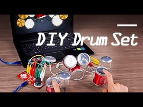 Arduino Projects! How to DIY a Playable Drum Set Using Coke Cans with Magickey