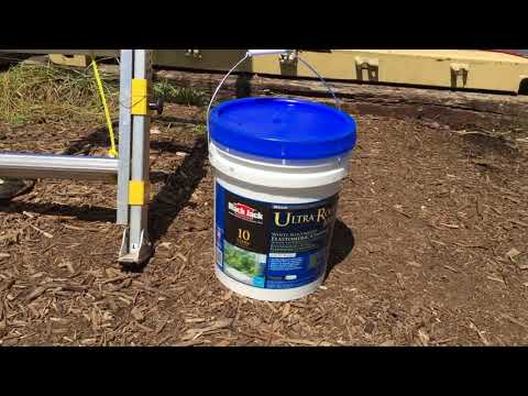 Reflective Roof Paint on Shipping Container - Part 1