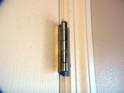 Home Security- How to prevent a door from being removed at the hinges