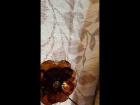 AYYGIFT 1 PAIR for transparent flower magnetic curtain clip tiebacks.