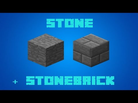 Minecraft - Crafting Recipes - Stone + Stone Brick (Updated to 1.12)
