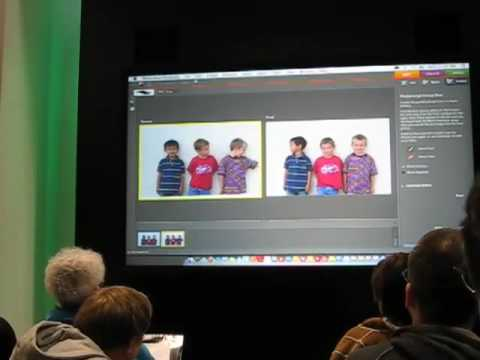 making kids face front in Photoshop Elements 6