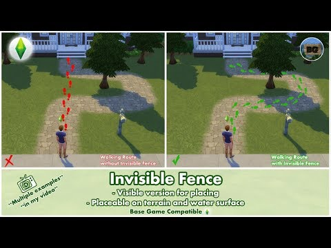 Bakies The Sims 4 Custom Content: Invisible Fence