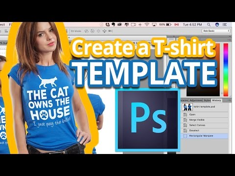 T-shirt Mockup - How To Create a T-shirt Template in Photoshop - Photoshop Tutorial