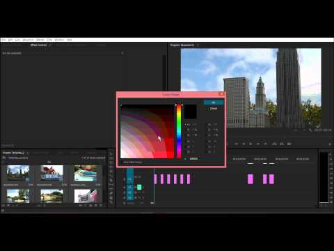 How To Easily Change Duration of Multiple Images & Remove Gaps in Adobe Premiere Pro CS6/CC