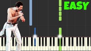Bohemian Rhapsody - Queen [Easy Piano Tutorial] (Synthesia/Sheet Music)